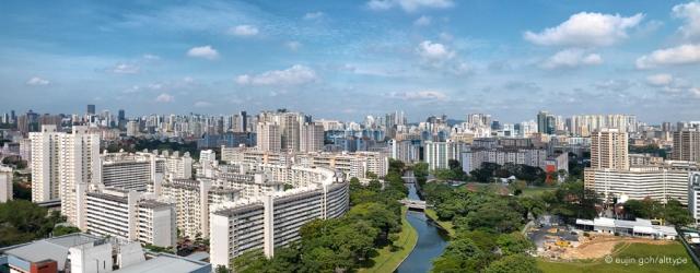 Panorama View of Singapore, HDB Heartland