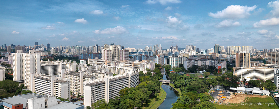 Panorama View of Singapore, HDB Heartland