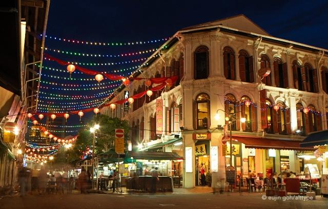 Chinatown at night, Singapore