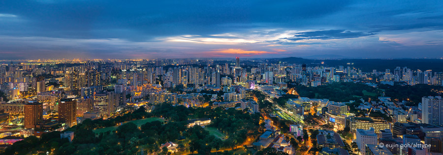 Panoramic view of Orchard Road, Singapore