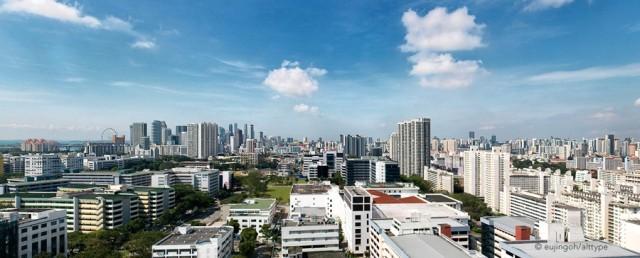 Singapore Skyline by Eujin Goh