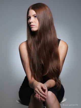 Model with long hair by Eujin Goh